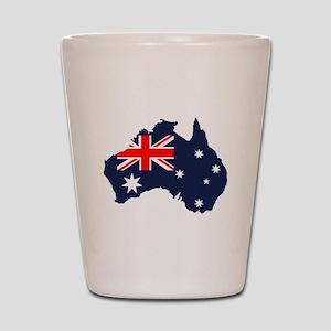 Australia Flag Map Shot Glass