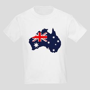 Australia Flag Map Kids Light T-Shirt