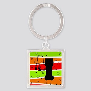 Respiratory Therapy Square Keychain