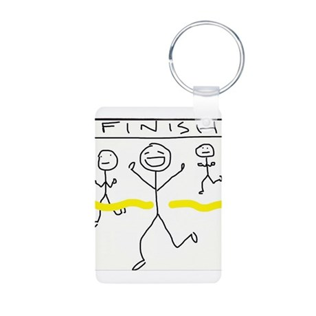Finish Line Aluminum Photo Keychain