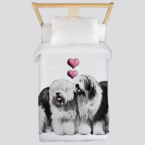 Ole English Sheepdog Pair Twin Duvet