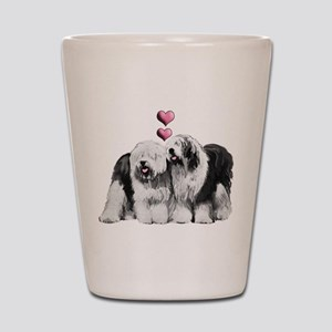Ole English Sheepdog Pair Shot Glass