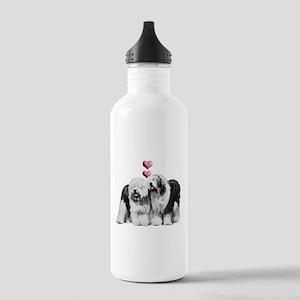 Ole English Sheepdog Pair Stainless Water Bottle 1