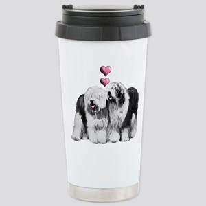 Ole English Sheepdog Pair Stainless Steel Travel M