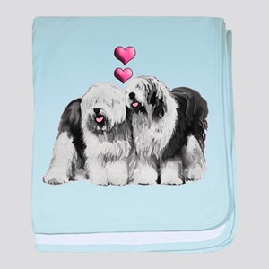 Ole English Sheepdog Pair baby blanket