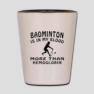 Badminton Designs Shot Glass
