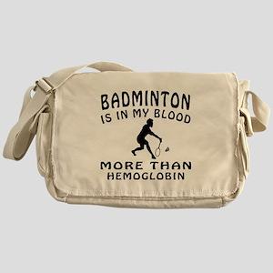 Badminton Designs Messenger Bag