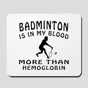 Badminton Designs Mousepad