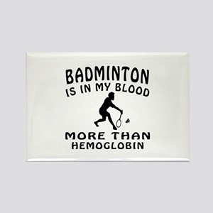 Badminton Designs Rectangle Magnet