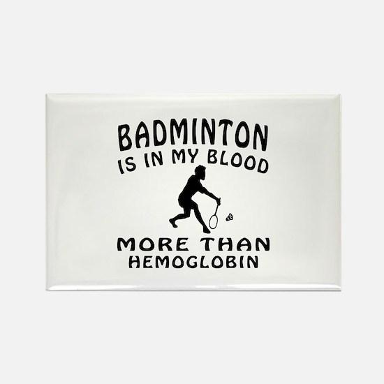 Badminton Designs Rectangle Magnet