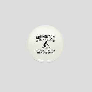 Badminton Designs Mini Button
