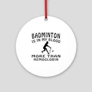 Badminton Designs Ornament (Round)
