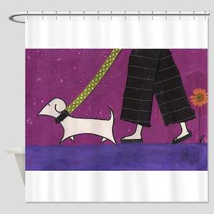 Walkies! Shower Curtain