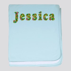 Jessica Floral baby blanket