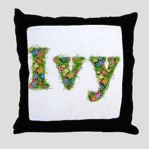 Ivy Floral Throw Pillow