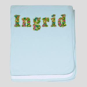 Ingrid Floral baby blanket