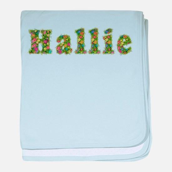 Hallie Floral baby blanket