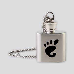 GNOME linux Flask Necklace