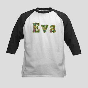 Eva Floral Kids Baseball Jersey