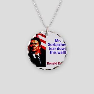 Mr Gorbachev - Ronald Reagan Necklace Circle Charm