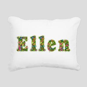 Ellen Floral Rectangular Canvas Pillow
