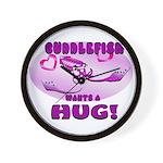 Cuddlefish wants a hug Wall Clock