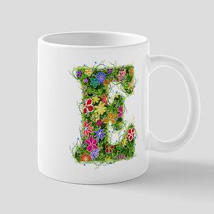 E Floral Mug