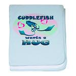Cuddlefish wants a hug baby blanket