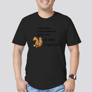 Oh Look A Squirrel Men's Fitted T-Shirt (dark)