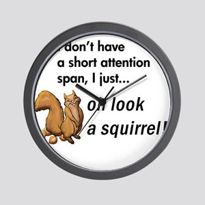 Oh Look A Squirrel Wall Clock