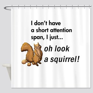 Oh Look A Squirrel Shower Curtain