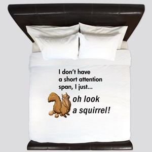 Oh Look A Squirrel King Duvet