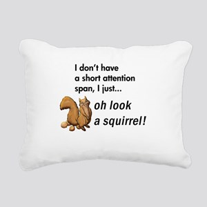 Oh Look A Squirrel Rectangular Canvas Pillow