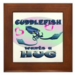 Cuddlefish wants a hug Framed Tile