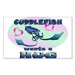 Cuddlefish wants a hug Sticker (Rectangle)