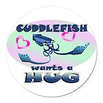 Cuddlefish wants a hug Round Car Magnet