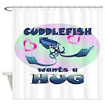 Cuddlefish wants a hug Shower Curtain
