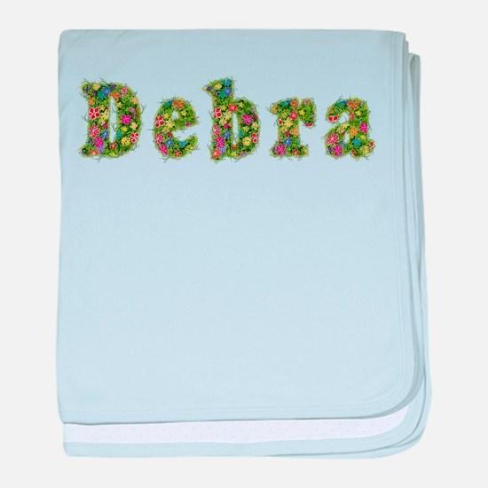 Debra Floral baby blanket