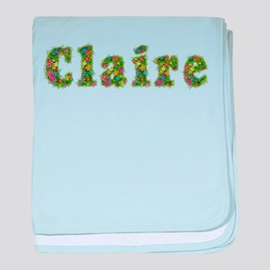 Claire Floral baby blanket