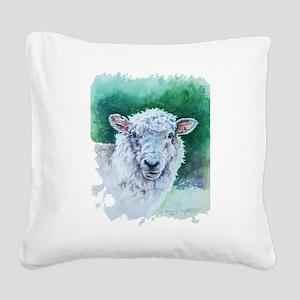 Sheep Merino New Zealand Square Canvas Pillow
