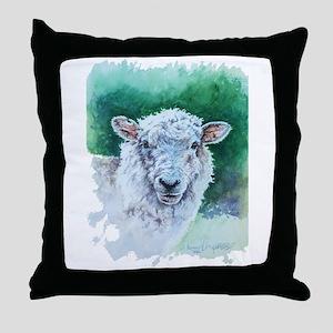 Sheep Merino New Zealand Throw Pillow