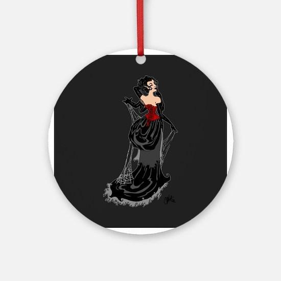 Black Widow Fairy Ornament (Round)