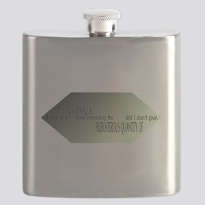 You are underestimating the shit I dont give Flask