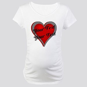 Crimson Heart Maternity T-Shirt