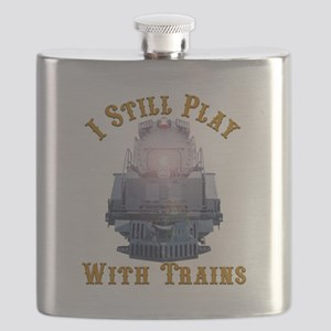 I Still Play with Trains Flask