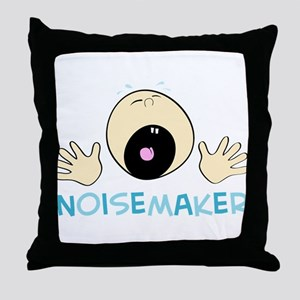 Noise Maker Throw Pillow