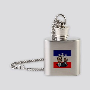 Vote Obama and Biden in 2008 Flask Necklace