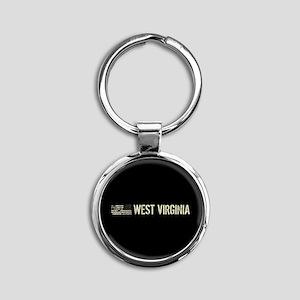 Black Flag: West Virginia Round Keychain