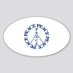 Peace Shirts and Gifts Sticker (Oval)