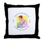 Breast Health Throw Pillow